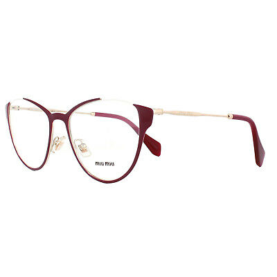 94749dd7b891 MIU MIU GLASSES Frames MU02QV VYC1O1 Blue Transparent Blue 53mm ...