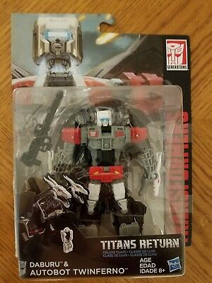 Transformers Titans Return Deluxe Class Daburu & Autobot Twinferno Figure New!