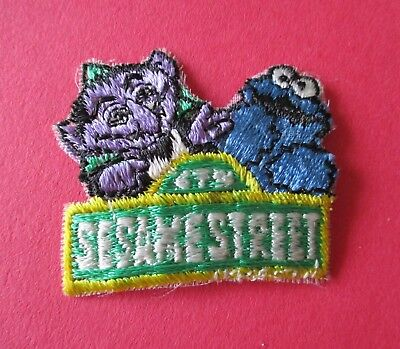 Cookie Monster & The Count Sesame Street New Iron-On Patch