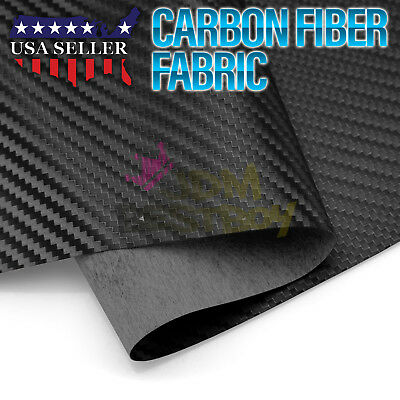 "Black Carbon Fiber Fabric Cloth Marine Vinyl 54"" Wide Plain Weave Upholstery"