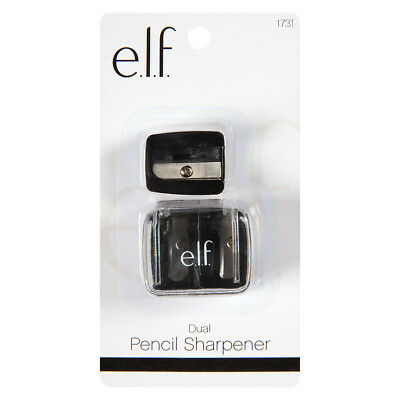 E.L.F.* 2pc Set DUAL PENCIL SHARPENER Adapter+Clear Cover MAKEUP Carded 1731 ELF