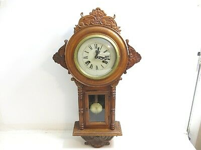 """Vintage Regulator A Wall Clock 30"""" Tall / 17 1/2"""" Across / Sold As-Is"""