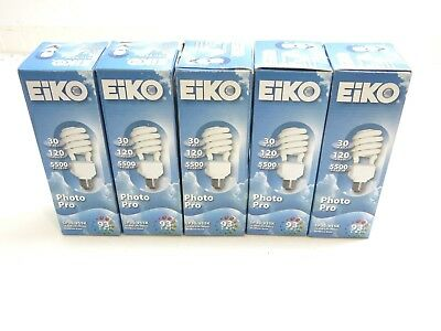 Lot Of 5 New Eiko Photo Pro Lamps Sp30/955K 30W 120V 5500K 93 Cri 10K Life Hours