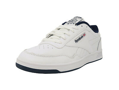 REEBOK Club MemTech 2.0 Classic White Navy Blue Athletic Sneakers Men Shoes
