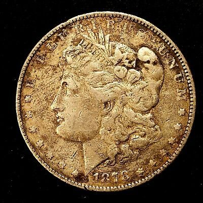1878 P ~**1ST YEAR ISSUE**~ Silver Morgan Dollar Rare US Old Antique Coin! #777