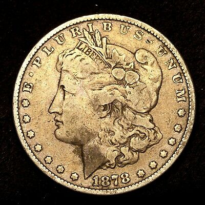 1878 P ~**1ST YEAR ISSUE**~ Silver Morgan Dollar Rare US Old Antique Coin! #786