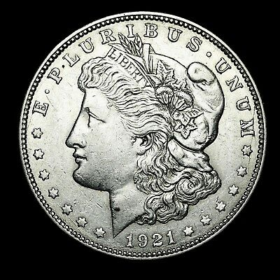 1921 D ~**ABOUT UNCIRCULATED AU**~ Silver Morgan Dollar Rare US Old Coin! #X98