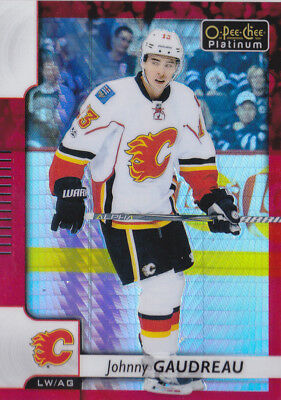 17-18 OPC Johnny Gaudreau /199 Red Prism OPEECHEE Flames 2017