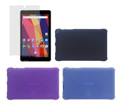 """TPU Case + Screen Protector for Nuvision 8"""" (TM800A730M /TM800A740M) Android"""