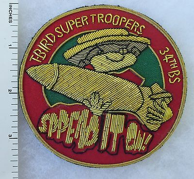 34th BOMB SQUADRON SUPER TROOPER US AIR FORCE Bullion PATCH Made for VETERANS