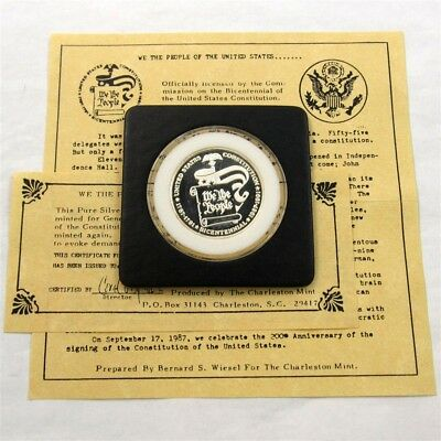 1987 General Mills Cereal Giveaway Silver Medallion - Constitution Bicentennial