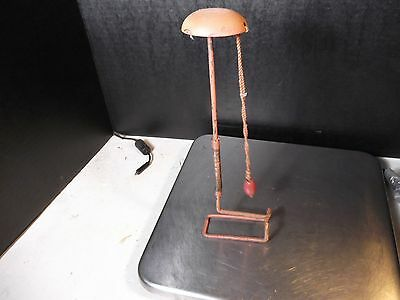 Vintage Shelf Or Store Display Pull Down Hat / Wig Stand (P)