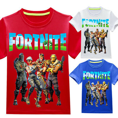 Fortnite Game Figure Kids T-shirts Tops Shirts Costume Boy tshirts Party gifts #