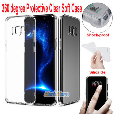 Shockproof 360° Protective Soft Silicone Case Cover for Samsung S7 Edge S8 Note8