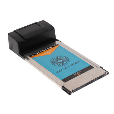 RS232 DB9 Serial I/O Port to PCMCIA PCI Express/34 Card Adapter for Laptop