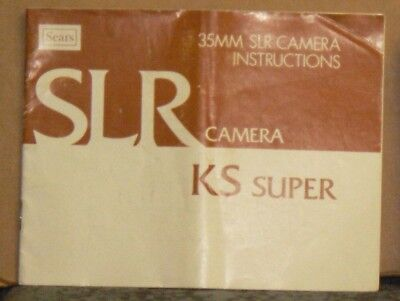 Sears KS Super 35mm SLR Camera Instructions