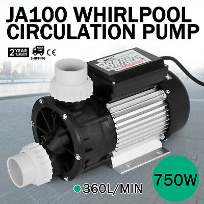 LX JA100 Whirlpool Circulation Pump Hot Tub Stronger Bearings Durable 365L/MIN