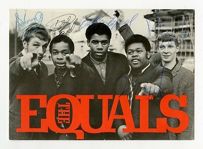 Eddie Grant The Equals Signed German Promotional Card 1968
