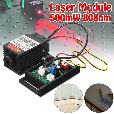 Focusable Red 500mw 808nm Infrared IR Laser Diode Dot Module 12V+TTL+Fan Cooling