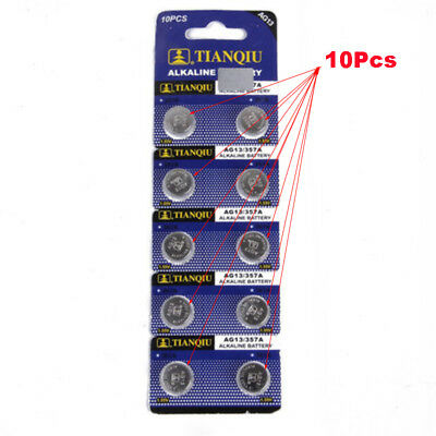 10pcs Button AG13 LR44 SR44 L1154 357 A76 Alkaline Single Use Batteries Tools