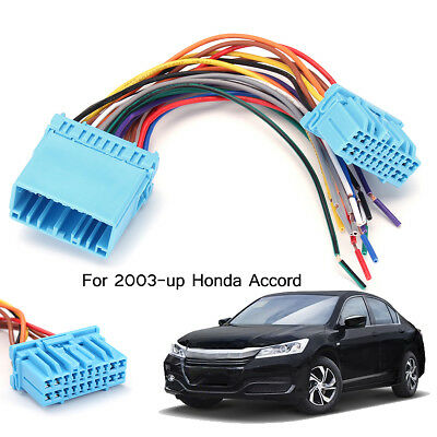 1x speaker wiring harness adapter connector radio plug for 03-up honda  accord