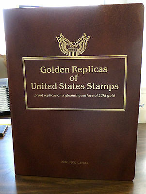 LOT OF 130 Postal Commemorative 22kt Golden Replicas of US Stamps YEAR 2000'S