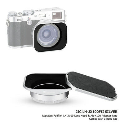 JJC Metal Lens Hood + Adapter Ring + Hood Cap for Fujifilm X100F X100S X100T X70