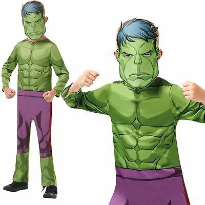 Boys Incredible Hulk Costume Marvel Avengers Superhero Child Fancy Dress Outfit