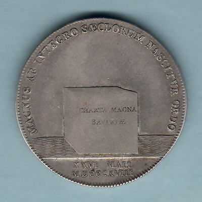 Germany - Bavaria. 1818 1 Thaler.. Constitution..  Trace Lustre - aEF