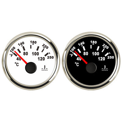 Marine Water Temperature Gauge Boat Temp Meter Steel 40-120 ºC White Black