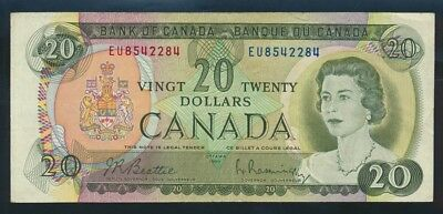 "Canada: 1969 $20 QEII & ""ROCKY MOUNTAINS"" Sig. Beattie-Rasminsky. Pick 89a"
