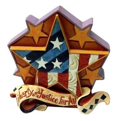Jim Shore Liberty and Justice For All Patriotic Miniature Star Figurine 6001088