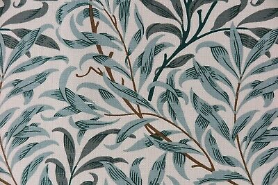 """WILLIAM MORRIS CURTAIN FABRIC /""""Willow Bough/'s Major Voile/"""" 3.4 METRES GREEN"""