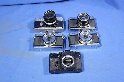 LOT of Assorted Film Camera Bodies FOR PARTS & REPAIR #L4194BP AS-IS