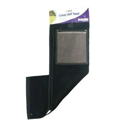 Longridge Folded Golf Towel With Black Mesh Pouch - Pocket 2 Fold Luxury