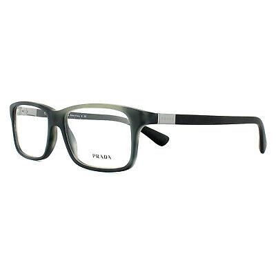 06a97fa09c AUTHENTIC PRADA PR 06SV USD1O1 Matte Striped Grey Rectangle ...