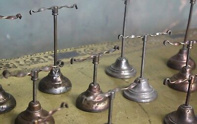 Collection of Edwardian Twist Shoe Shop Display Stands Antique Curio Footwear