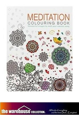 Meditation Adult Colouring Coloring Book 128 A4 Pages Color Books Anti Stress