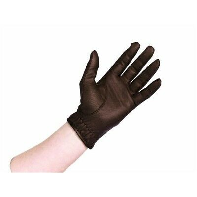 Caldene Competition Riding Glove - Brown, Small - Gloves Brown