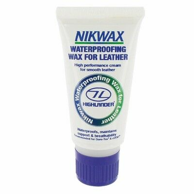 Nikwax Waterproofing Wax Cream For Leather 60ml Horse Equine Pony Footwear Care