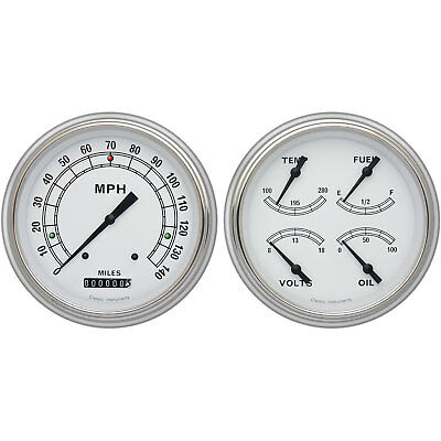 Classic Instruments CH51CW52 Classic White Series Gauge Package 1951-52 Chevy Ca