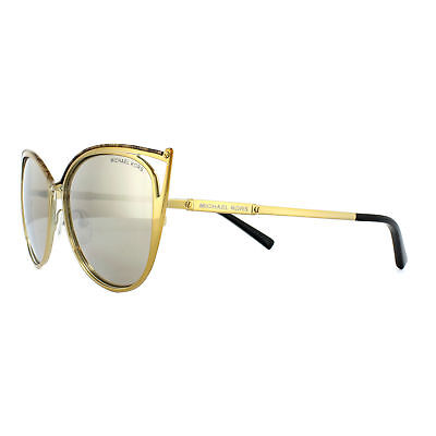 4c44f5a0e15 Michael Kors Sunglasses Ina 1020 11645A Gold Marble and Gold Bronze Mirror