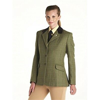 Caldene Silverdale Girls Jacket Light Brown-28 Inch - Tweed Competition