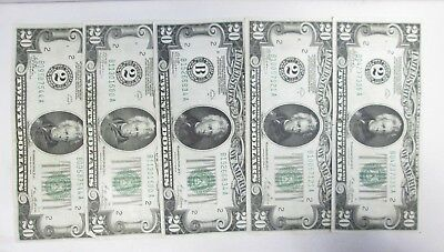 Lot Of Five 1928 Us $20 Federal Reserve Notes