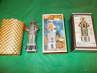 "1966-1985 Ym-3 ""lost In Space"" Wind-Up 4 1/2"" Robot In Original Box!super Robot!"