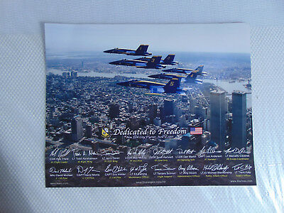 """Dedicated to Freedom New York City Flyover June 1, 2001 Lithograph/Print 11x14"""""""