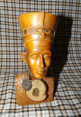 "Nefertiti Queen of Egypt Solid Bust Resin Compound 8"" w/ AL ASEEL Tag/Medallion"