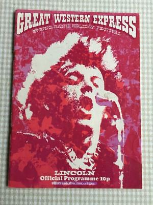 Tour programme Genesis Great Western Express Lincoln 1972 Rory Slade Roxy Quo