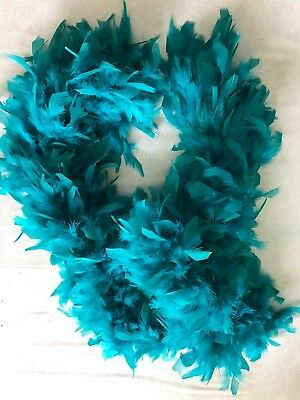 women SEXY THICK FEATHER BOA HALLOWEEN WEAR NEW NWOT great quality 76 inch blue