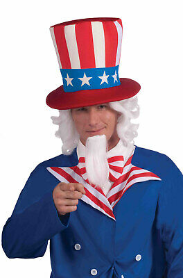 Fourth of July Patriotic Uncle Sam Adult Wig & Beard Set